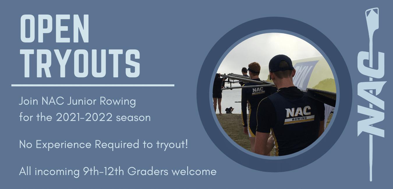 NAC Junior Rowing Men Open Tryouts
